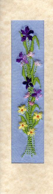 "Iris tulips card Size 7""x2"""