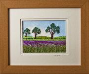 "Lavender field. Mount size 8"" x 10"""
