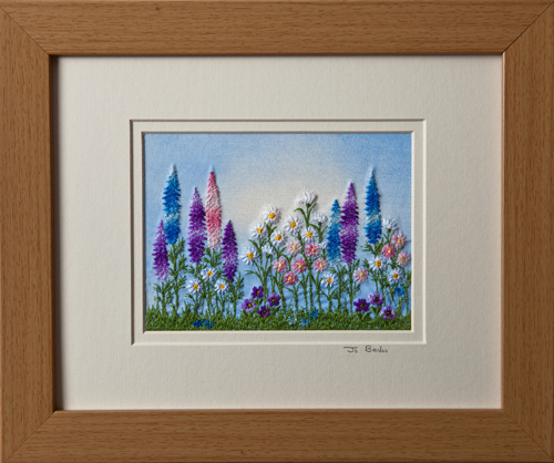 "Lupins and Daisies. Mount size 8"" x 10"""
