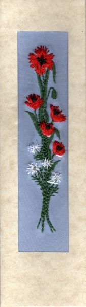 "Poppy daisies card 7""x2"""