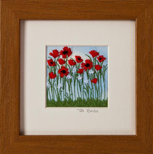 "Poppies. Mount size 5"" x 5"""