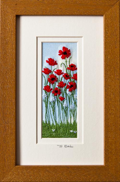 "Poppies Mount size 7.75""x4.75"""