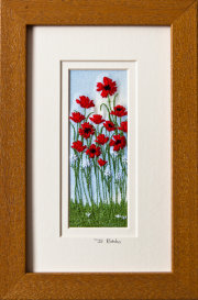 "Poppies Mount size 7.75""x4.75"""