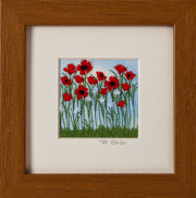 "Poppies. Mount size 5"" x 5"""