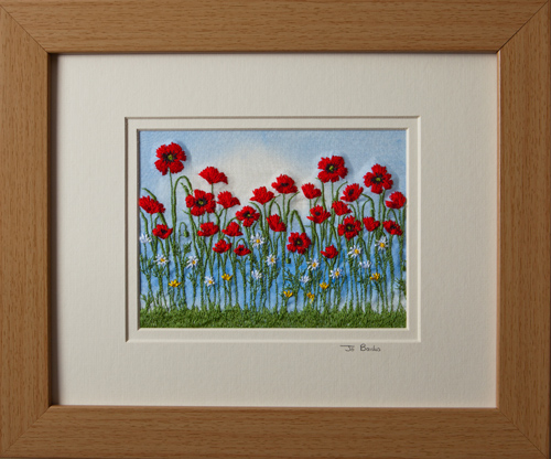 "Poppies and Daisies. Mount size 8"" x 10"""