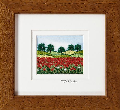 """Poppy Field. Mount size 5.25"""" x 4.75"""""""