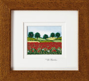 "Poppy Field. Mount size 5.25"" x 4.75"""