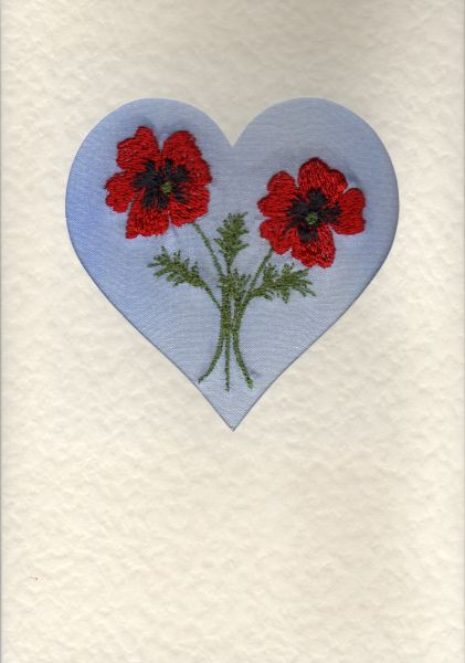 "Poppy heart Size 6""x4"""