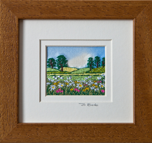 "Summer meadow. Mount size 5.25"" x 4.75"