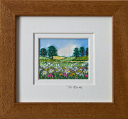 "Summer meadow. Mount size 5.25"" x 4.75"