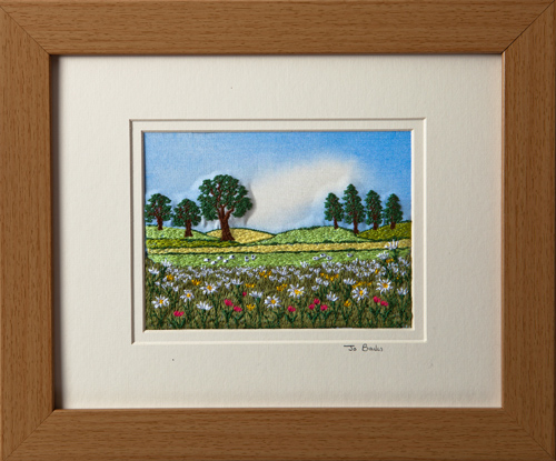"Summer meadow. Mount size 8"" x 10"""