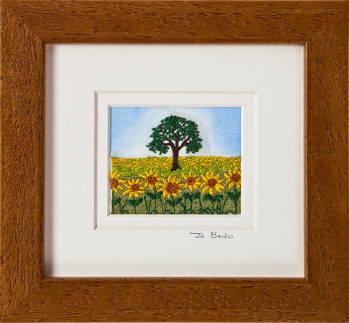 "Sunflower field. Mount size 5.25"" x 4.75"""