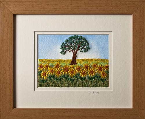 "Sunflower field. Mount size 8""x10"""