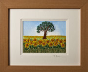 "Sunflower field. Mount size 8""x10"""