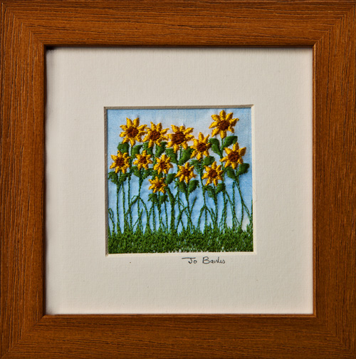 "Sunflowers. Mount size 5"" x 5"""