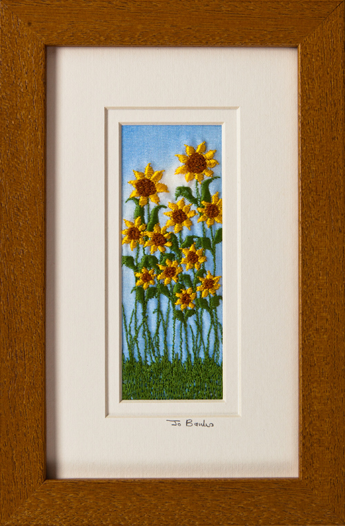 "Sunflowers Mount size 7.75""x4.75"""