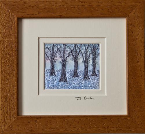 "Winter Woods. Mount size 5.25"" x 4.75"""