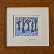 "Winter Woods. Mount size 5.25"" x 4.75"""
