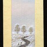"Winter landscape Size 7""x2"""