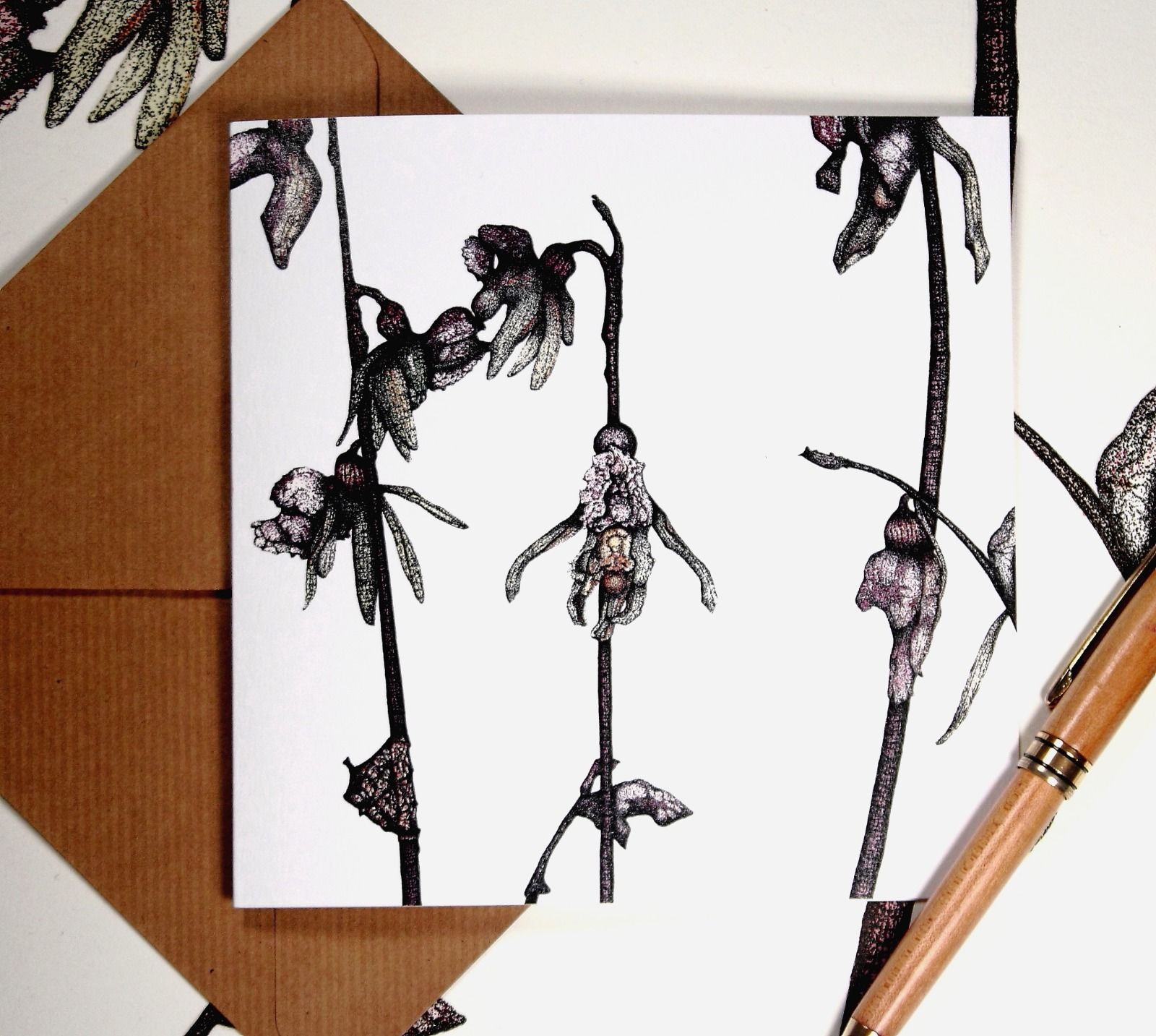 Greeting card - Ghost Orchid