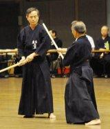 Teachers at the Nihon Jodo Kai in Tokyo - Sensei's Osato & Abe.