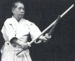 Shimizu Sensei with 2 swords