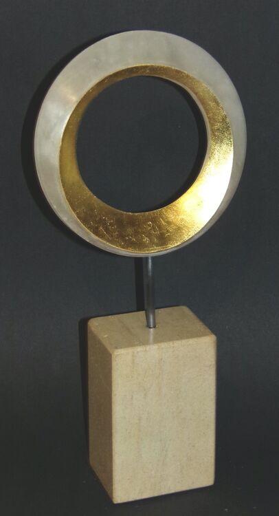 Ring of Gold Alabaster and Gold Leaf
