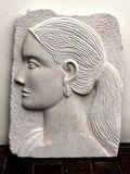 Head - Bas Relief - Portland Limestone