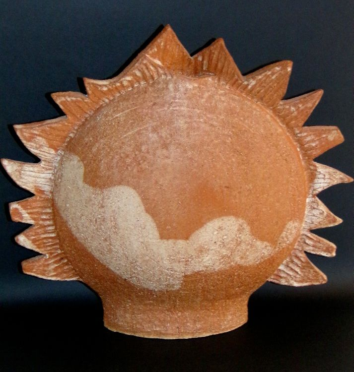 Sun         Glazed Earthenware - Sold