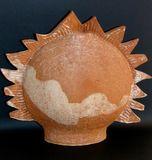 Sun - Glazed Earthenware - Sold