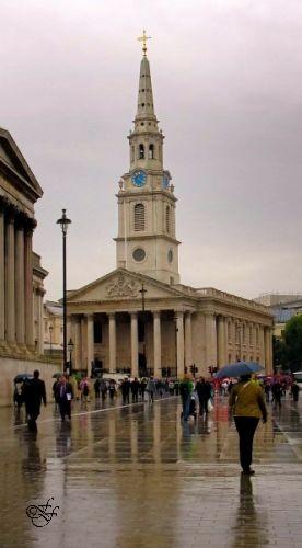 Trafalgar Squ. 'St Martin's in the Rain'