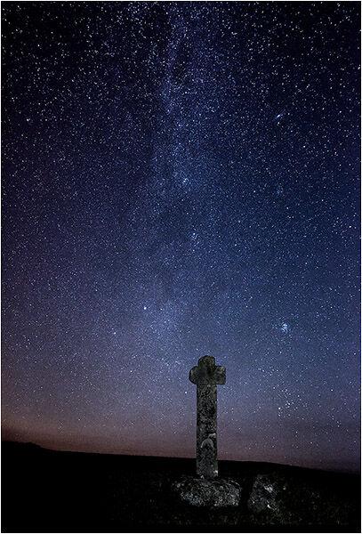 Milky Way over Blackaton Cross (Dartmoor)