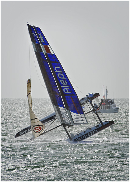 America's Cup - Aleph capsizing