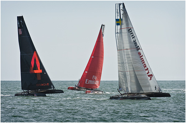 America's Cup - Racing in Plymouth Sound