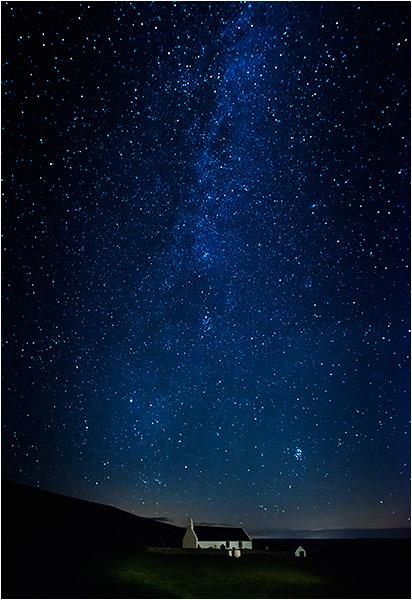 Milky Way above 14th Century Chapel