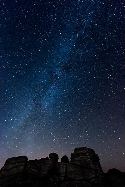 Milky Way over Combestone Tor (NW)