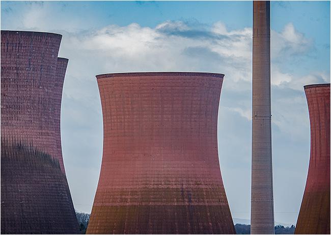 Cooling towers & chimney, Ironbridge