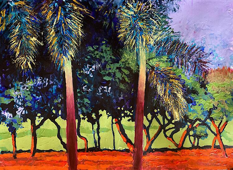 Royal palms sunset