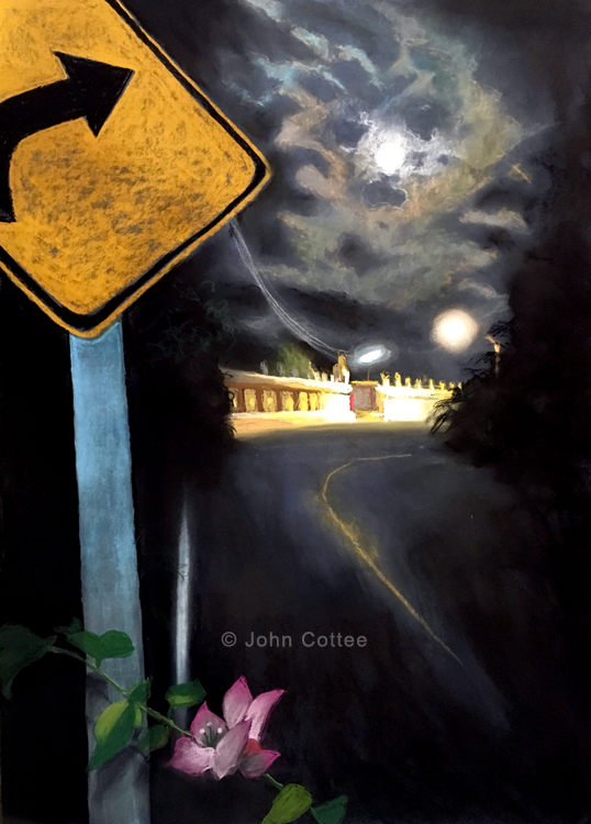 a bend in the moonlight