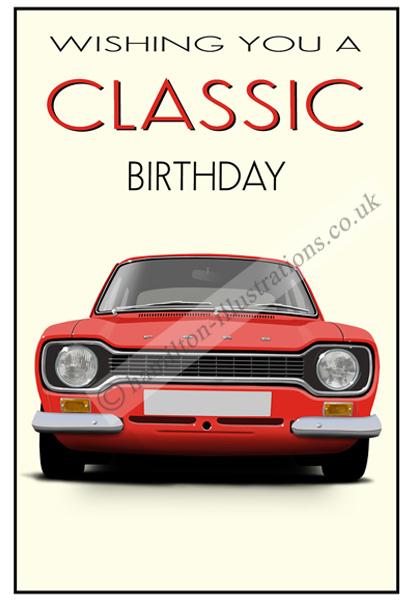 Escort Mk1 Classic Card Red CF121