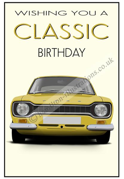 Escort Mk1 Classic Card Yellow CF123