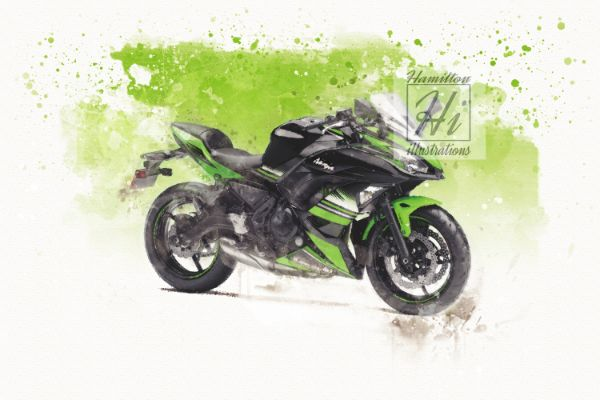 Ninja 650 Watercolor style