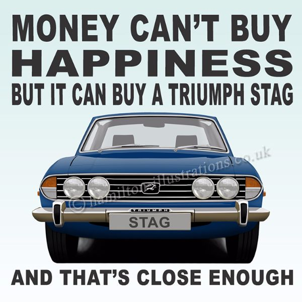 Stag Happiness Coaster Blue CT102