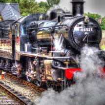 """""""Ivatt"""" at the Llangollen Railway"""