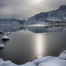Cwmorthin Quarry in Winter