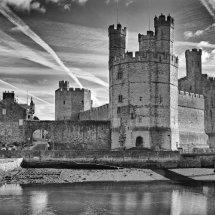 Caernarfon Castle in B&W