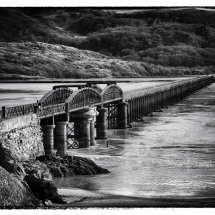 Barmouth Bridge in Black & White