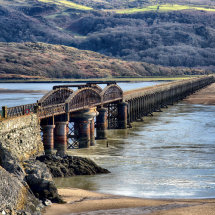 Barmouth Bridge in Colour