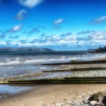 Llanfairfechan beach looking towards Llandudno