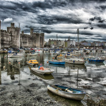 Caernarfon Harbour and Castle